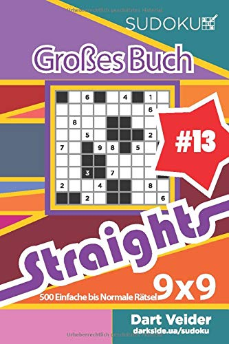 Sudoku Großes Buch Straights - 500 Einfache bis Normale Rätsel 9x9 (Band 13) - German Edition