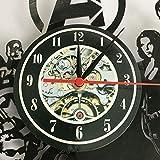 LKJHGU Reloj de Pared LED Luminoso diseño Moderno Disco de Vinilo fabricación de Ropa artesanía...