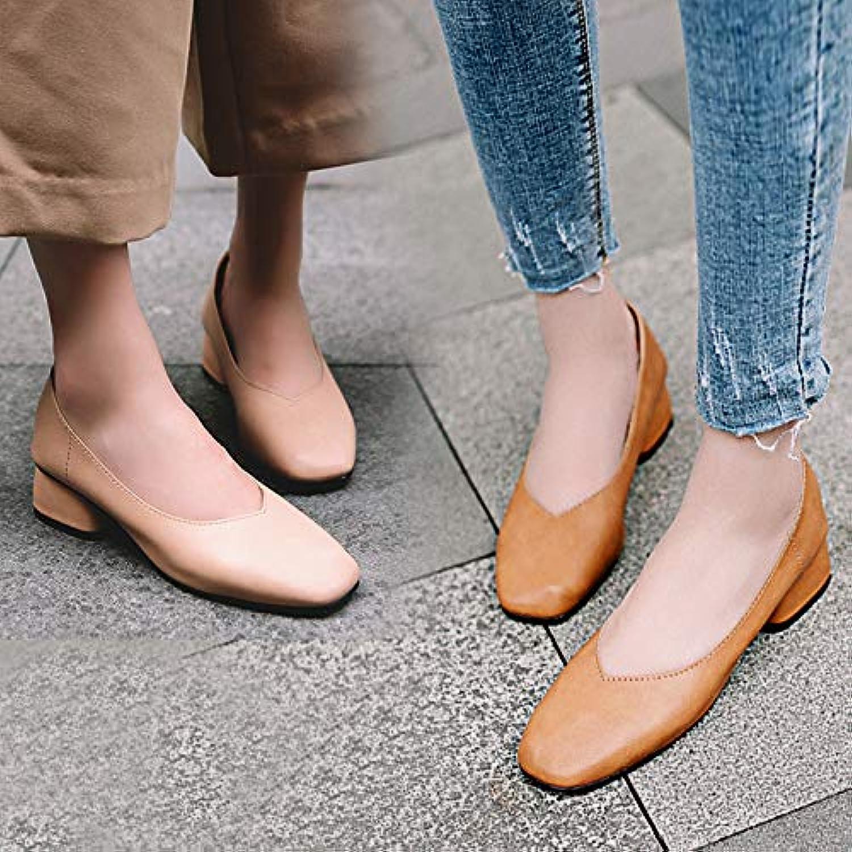 HOESCZS Damenschuhe Frühling Neu V Mund Retro Oma Schuhe Schuhe Damen Wild Rau Mit Quadratischen Kopf Mary Jane Schuhe  Outlet-Verkauf