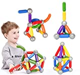 BMAG 38 PCS Magnetic Balls and Rods Set , Magnet Building Sticks Set, Building Blocks Tiles, STEM Stacking Toys for Kids,Juniors,Toddlers