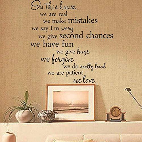 Wanddeko Für Wohnzimmer Verkaufe Hausregeln Vinyl Wandkunst Abziehbilder Wohnkultur Wohnzimmer Diy Familienregeln Abnehmbare Wandaufkleber Wandaufkleber Kinderzimmer