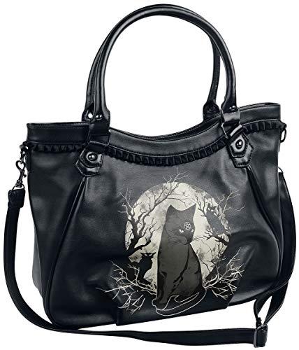 Banned Alternative Hecate In Full Moon Frauen Handtasche schwarz/weiß