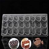 24er Princess Crown Form für Pralinen, Schokolade und Kuchen, Polycarbonat, Hochzeitsdekoration, für Gelee, Pudding, Süßigkeiten, Küche, Backen, Backform, Kuchenform, Backzubehör, 14,5...