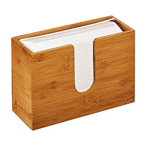 Cuarto de baño cocina sala de estar hogar bambú papel toalla dispensador pared encimera plegable mano servilleta caja