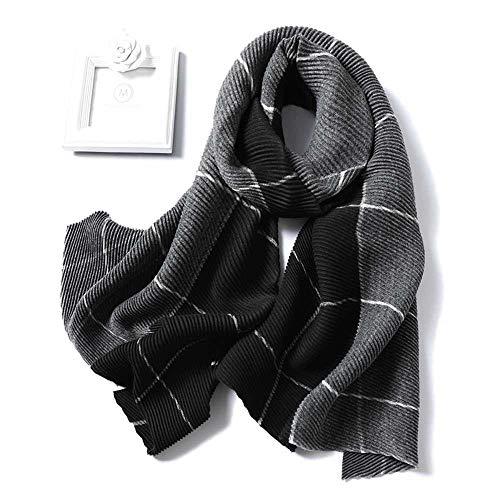 Vigck Lady Winter kasjmier sjaal voor vrouwen geruit robuust Pashmina Crinkle Dick Wol Knit Unisex halsdoek Stolen