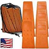 Cold Creek Loggers - Made in The USA! - 5.5' Orange Spiked Tree Wedges for Tree Cutting Falling, Bucking, Felling Wedges Chainsaw Loggers Supplies- Set of 6 Plus Free Carrying Bag