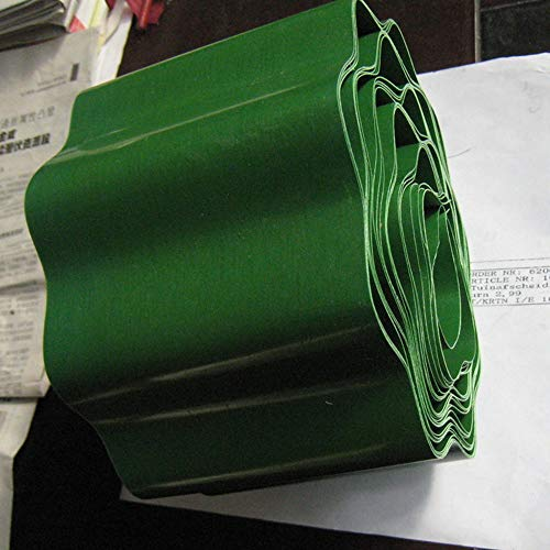 QIANGGAO Easy-Edge-Green-Rasenkanten - Grasbarriere - Landschaftsrand Terrace Kunststoff-Terrassenbrett Querrahmungsspule, Garten-Rasenkanten, Blumenbeete und Steine schützen 15cm * 9m