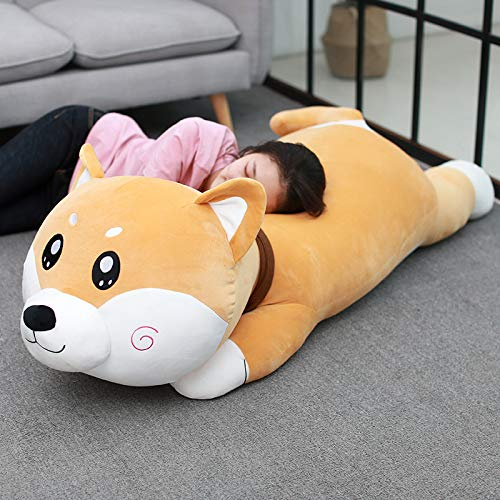 suxiaopei Puppe Shiba Inu Puppen Übergroße süße Plüschtier Hund Schlafkissen Puppen Geburtstagsgeschenke Neu 1,2 Meter (2,6 kg runde Augen gelb Chai Gongzi