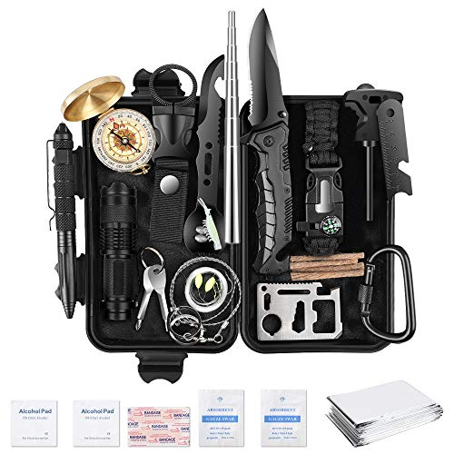 35 in 1 Survival Kit, Powerful Tactical Survival Gear Kit, Fun Cool Gadgets for Men's Gifts Ideas, Birthday Survival Gear and Equipment, Upgraded Official Survival Kit