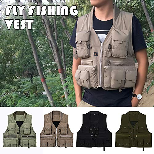 Lixada Quick Dry Fly Fishing Vest Breathable Fishing Jacket with Mesh Lining for Angler
