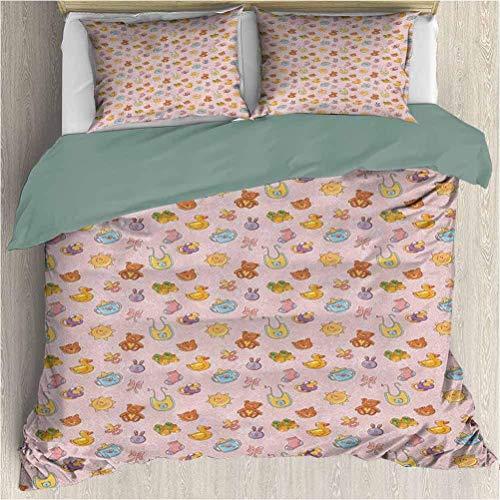 Bebé 3 piezas para funda de almohada Funda de almohada
