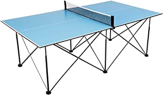 ping pong 7' Instant Play Pop-Up Compact Table Tennis Table with No Tools or Assembly Required – Blue