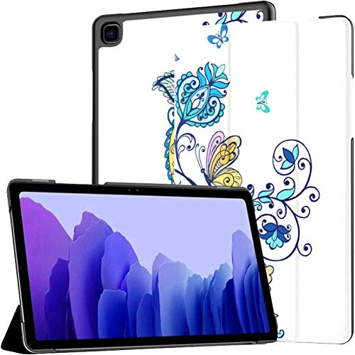 Funda para Tableta Samsung A7 Adorno Adornado Flores fantásticas Funda de Mariposas Paisley para Samsung Galaxy Tab A7 10.4 Pulgadas Funda Protectora de liberación 2020 Funda Protectora para Samsung