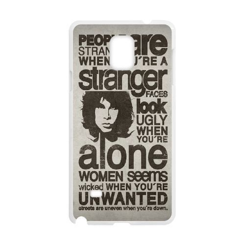 Durable Rubber Cases Samsung Galaxy Note 4 N9108 Cell Phone Case White TYPOGRAPHY THE DOORS LYRICS Rgkda Protection Cover