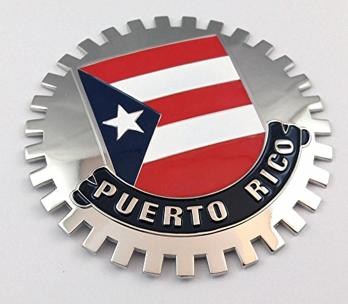 Puerto Rico Grille Badge for car Truck Grill Mount Puerto Rican Flag