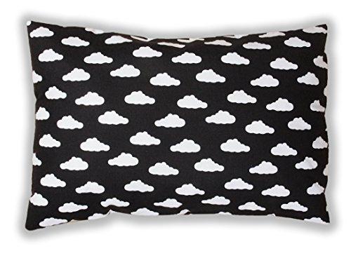 Amilian® Dekokissen Kissenbezug Kissen 40cm x 60cm Wolken Schwarz