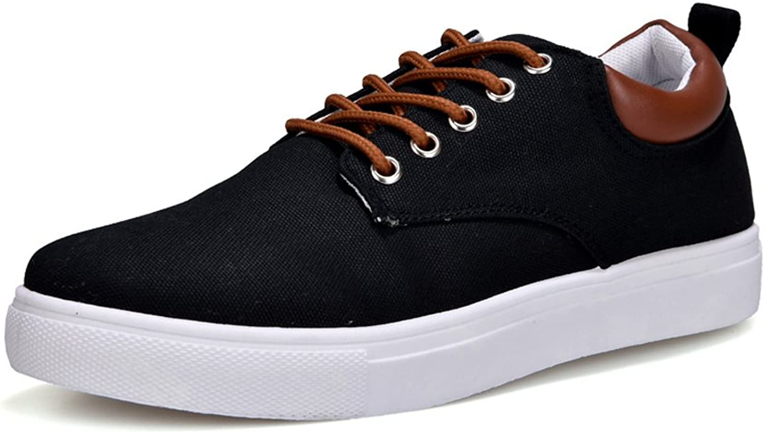 MUMUWU Men's Canvas Fashion Sneakers Low Top Lace Up Casual Wear Carrier