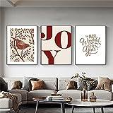 Flores Impresiones de arte de pared y carteles Cotizaciones Imágenes de plantas Pintura de lienzo de pared moderna nórdica para sala de estar Decoración del hogar 50x80cmx3pcs Sin marco