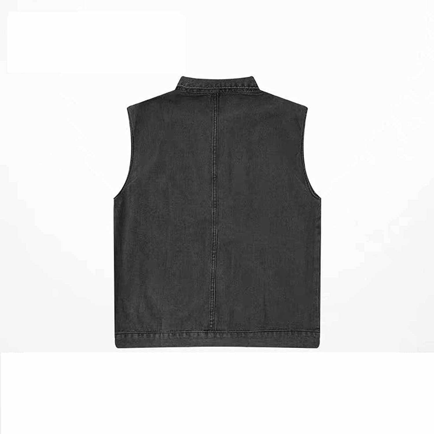 YXYECEIPENO 2021 Autumn Button Sleeveless Cowboy Jacket Men's Jacket Vest for Outdoor Sports, Party Activities Best Gift Choice (S-3XL, 2 Colors) (Color : Black, Size : Large)