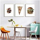 Nordic Food Bauernhaus Dekor Pizza Poster und Druck Hamburg