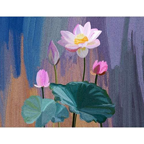 ZXDA Frameles DIY Pintura por números Imagen por números Paisaje Pared Arte Pintura acrílica para decoración del hogar Arte A3 45x60cm