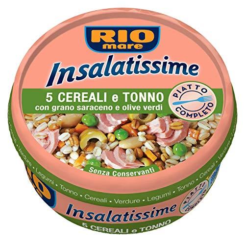 Rio Mare - Insalatissime 5 Cereali e Tonno con Grano Saraceno e Olive Verdi, Senza Conservanti, Forchetta Inclusa, 1 lattina da 220g