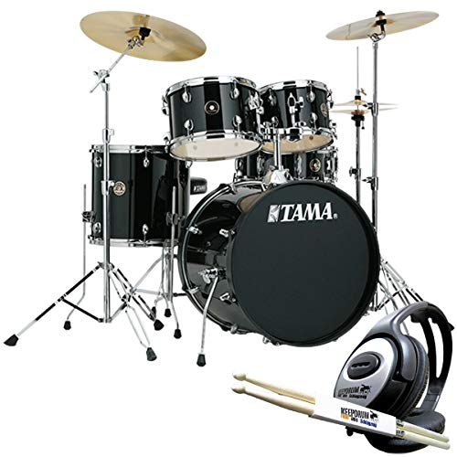 Tama RM52KH6-BK Rhythm Mate Schlagzeug + keepdrum Kopfhörer u. Sticks
