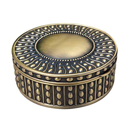 Schmuckkästchen, im europäischen Stil einfache Perlen Schmuck Aufbewahrungsbox, Metall hochwertige runde Dichtung Sammelbox