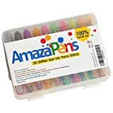 AmazaPens Gel Pens & Case for Passion Planner, Bullet Journal, Coloring Books for Adults - 30 Assorted, Unique, Colored Pens That POP - Archival Quality. 40% More Ink - Create 1.5X's More Art