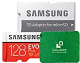 128 GO Digi Wipe Carte mémoire Micro-SD Evo Plus 128GB pour téléphones Samsung...