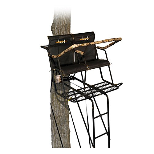 Muddy MLS2251 Stronghold 2.5 XTL Tree Stand, Tree Lok System 18' Ladder Stand, Black, One Size