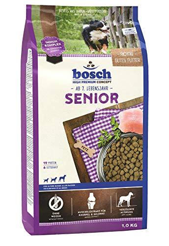 bosch HPC Senior   Hundetrockenfutter für ältere Hunde aller Rassen, 5 x 1 kg