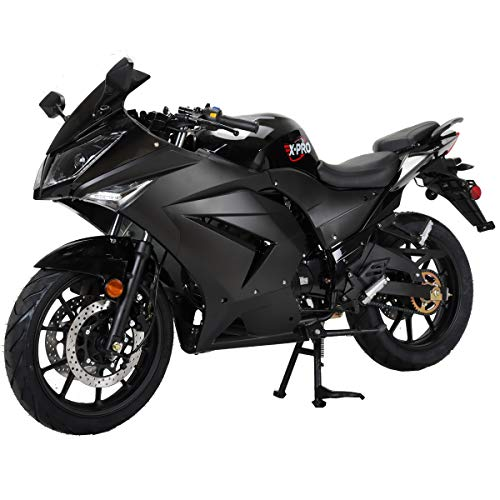 X-PRO 125cc Motorcycle Adult Gas Motorcycle Dirt Motorcycle Street Bike Motorcycle Bike Full Assembeld-Black (color1)