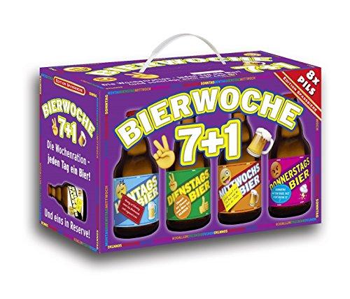 Bierwoche 7+1 Bier 8er Geschenkkarton (8 x 0.33 l)
