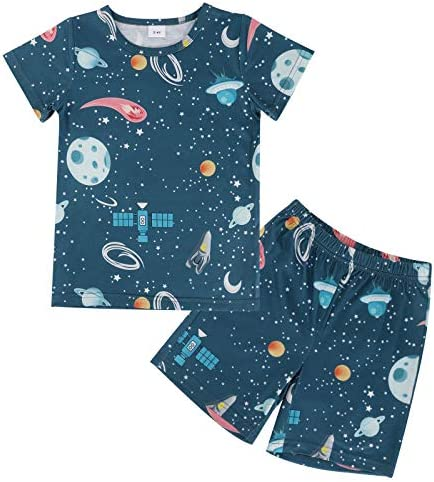 Toddler Kids Boys Summer Baby Clothes Short Sleepwear Set T Shirt Pants Pajamas 2pcs Outfits product image
