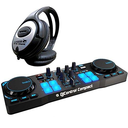 Mesa de DJ de Hercules con auriculares Keepdrum