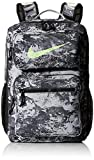 Nike Unisex's Utility Speed-GFX All Over Print Backpack, Particle Grey/Black/Lime Blast, One Size