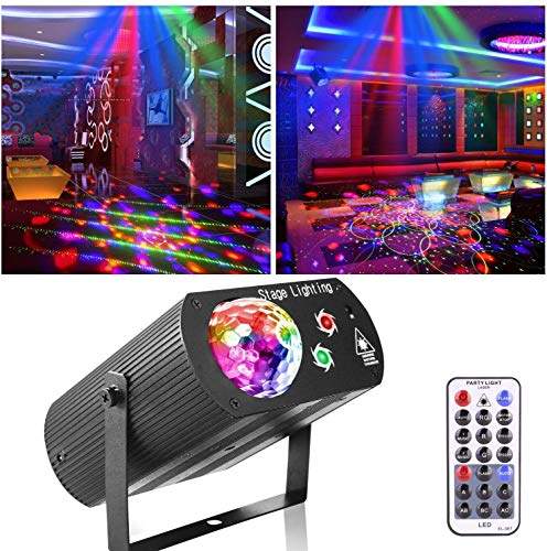 Stage Lights,Party Light Disco Ball Lights DJ Water Wave Lights With Remote Control Sound Activate LED Projector Christmas Decoration Gift Birthday Wedding Club Show Thanksgiving KTV Bar