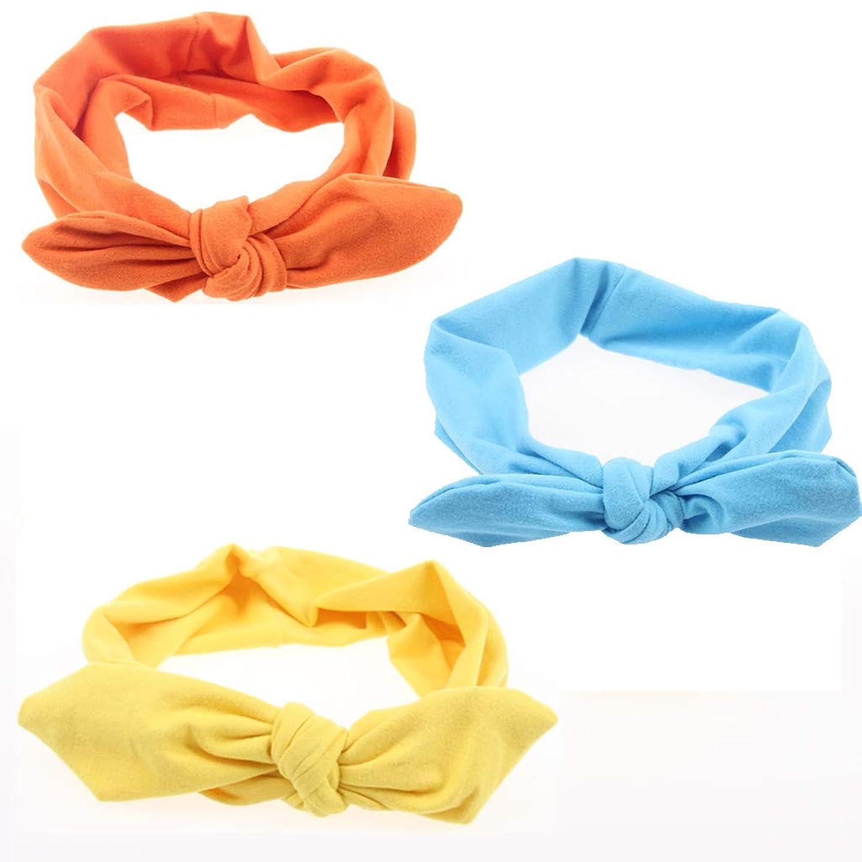 頼むシーフード宿るヘアバンド、かわいい弓のヘアアクセサリー(3つ)と女性のソリッドカラーヘアバンド (色 : #1)