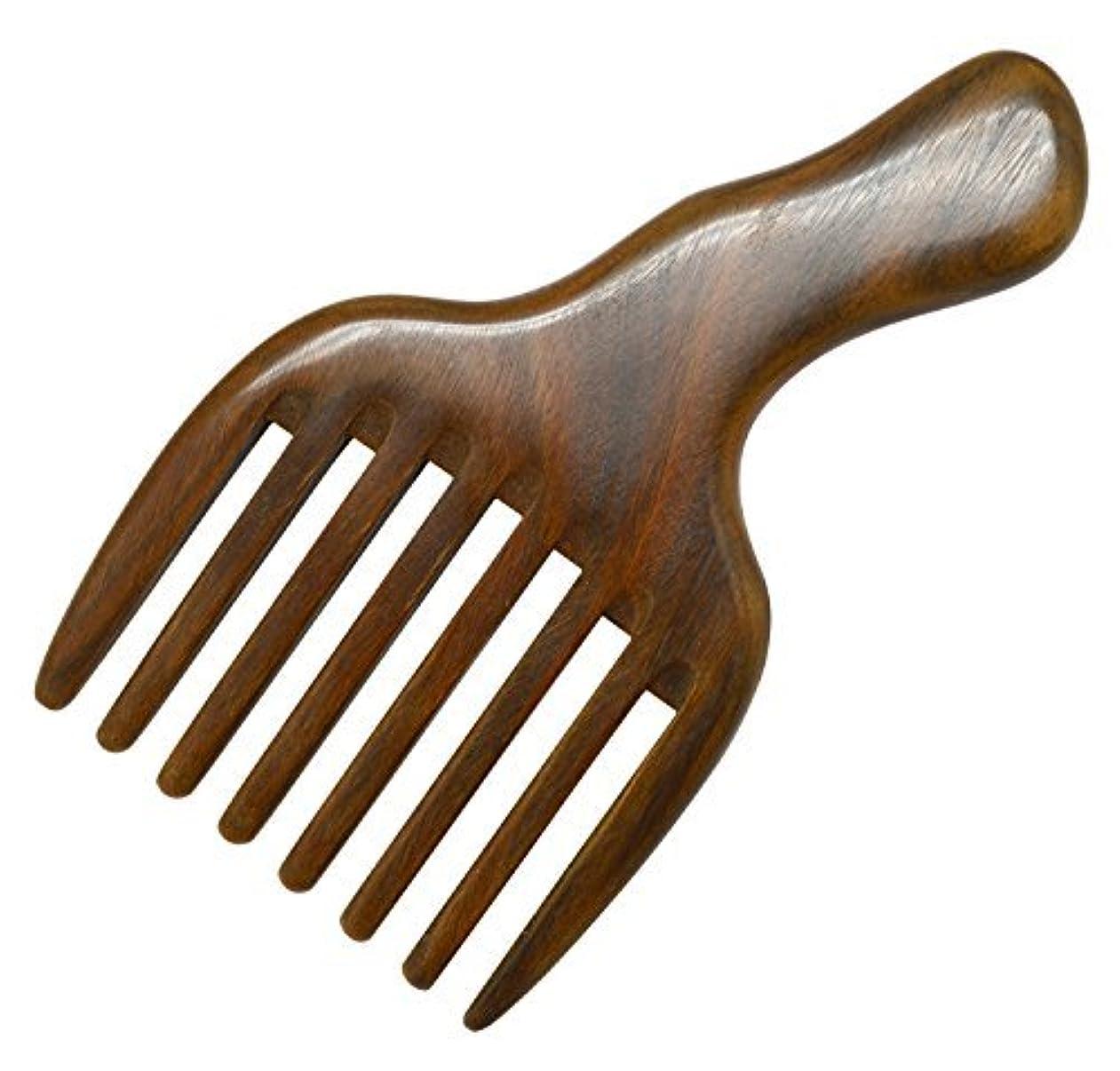 講師豊かな遠近法Meta-C Hair/Beard Pick/Comb ? Made Of One Whole Piece Of Natural Green Sandal Wood With Fantastic Handle (Wide Tooth) [並行輸入品]