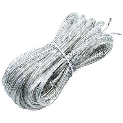 KingYH 1 Stück 10M Schlauchleitung 2 adrig 0,75mm² 300/300V Elektrokabel für Trockenraum Leichte Beanspruchung Strom-Kabel-Transparente