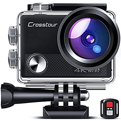 Crosstour CT9100 4K 20MP Action Camera with WiFi EIS LDC Remote Control Sports Camera 40M Waterproof Underwater Camcorder with Accessories Kit by Crosstour