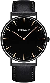Women Ultra Thin Watches Ladies Casual Quartz Analog Wrist Watch with Leather Band