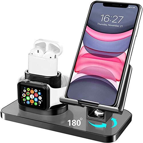 El soporte de carga inalámbrico tres en uno de escritorio modelo caliente de Amazon es adecuado para el soporte integrado de teléfonos móviles, relojes y auriculares de Apple