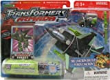Transformers Armada Robots In Disguise 6 Inch Action Figure - Decepticon Thrust with Inferno Mini-Con