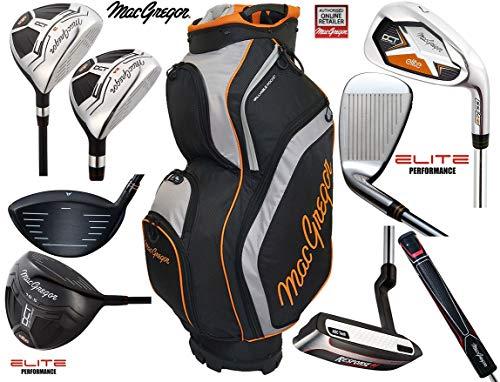 MacGregor DCT Elite Graphite Ensemble de Golf pour Homme et Sac de Golf Deluxe Response