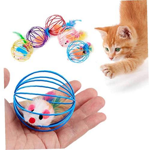 CULER Chat Interactif Toy Clochette Souris Cage Jouet pour Chat Souris Jeu en Plastique Fournitures De Jouets pour Animaux