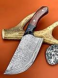 Handmade Damascus Steel Cleaver Chopper Knife Ladder Pattern VK2321