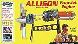 Atlantis Allison Prop Jet Aircraft Engine STEM Plastic Model Kit 1/10 Toy and Hobby