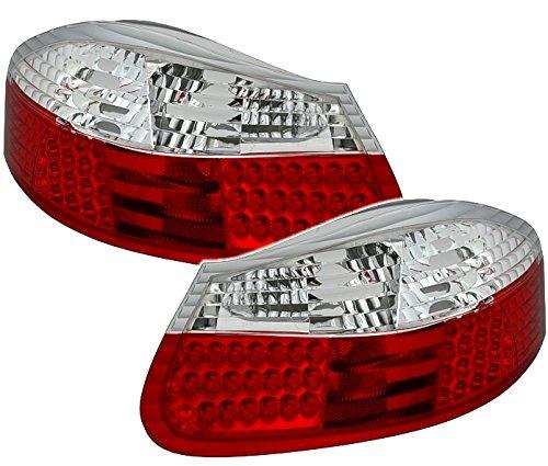 AD Tuning GmbH & Co. KG Kit de 960519 Feux arrière LED, Verre Transparent Rouge/Blanc